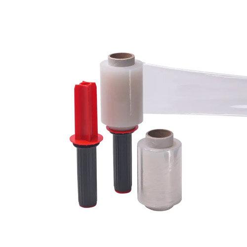 Stretch Packaging Film Wrap Mini Dispenser with 6 Refill Rolls 100mmx150m 97154015