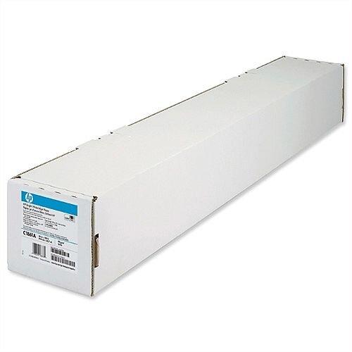 HP Bright White Inkjet Plotter Paper 841mm x 45.7m Ref Q1444A