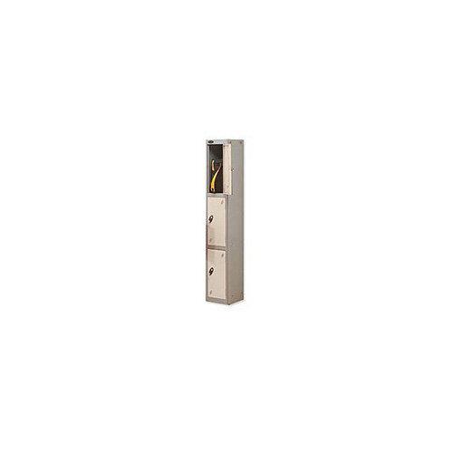 Probe 3 Door Locker Hasp &Staple Lock Extra Depth ACTIVECOAT W305xD460xH1780mm Silver White