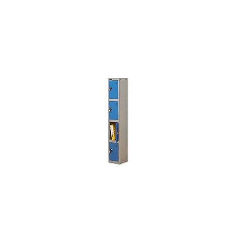 Probe 4 Door Locker Hasp &Staple Lock Extra Depth ACTIVECOAT W305xD460xH1780mm Silver Blue