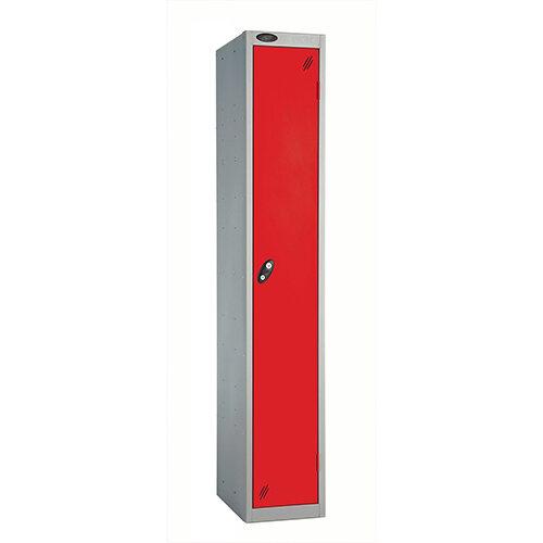 Probe 1 Door Locker ACTIVECOAT W305xD305xH1780mm Silver Body Red Doors