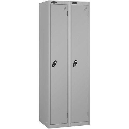 Probe 1 Door Locker ACTIVECOAT W305xD305xH1780mm Nest of 2 Silver Body &Doors By Lion Steel