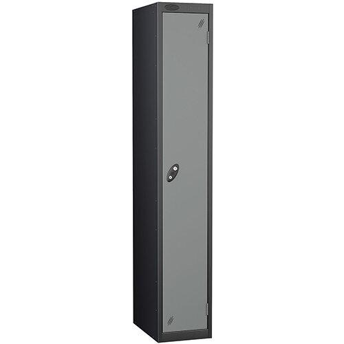 Probe 1 Door Locker ACTIVECOAT W305xD305xH1780mm Black Body Silver Doors