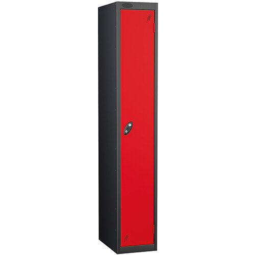 Probe 1 Door Locker ACTIVECOAT W305xD305xH1780mm Black Body Red Doors
