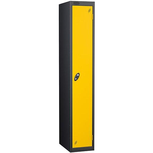 Probe 1 Door Locker ACTIVECOAT W305xD305xH1780mm Black Body Yellow Doors
