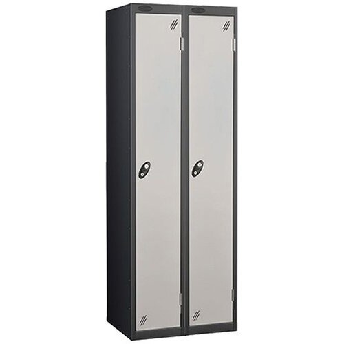 1 Door Locker Nest of 2 Black Silver Trexus