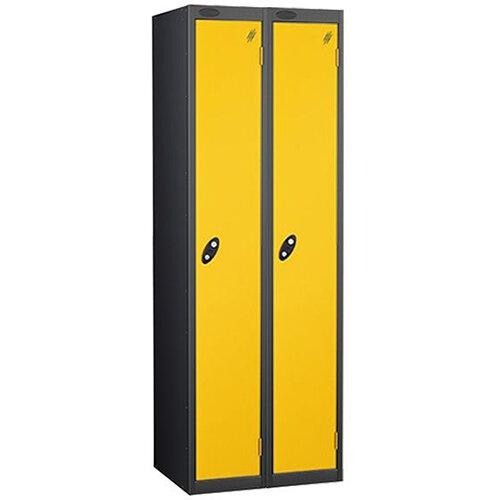 1 Door Locker Nest of 2 Black Yellow Trexus