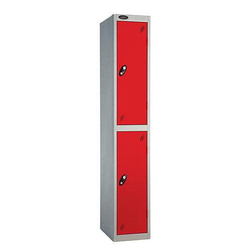 Probe 2 Door Locker ACTIVECOAT W305xD305xH1780mm Silver Body Red Doors