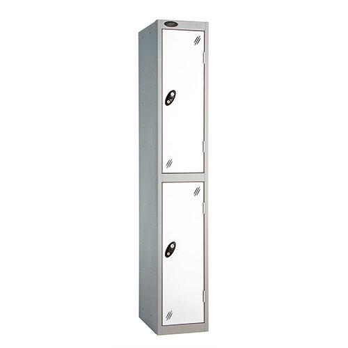 Probe 2 Door Locker ACTIVECOAT W305xD305xH1780mm Silver Body White Doors
