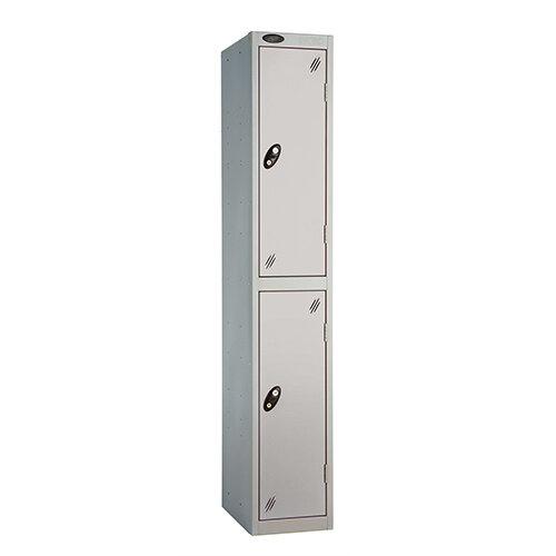 Probe 2 Door Extra Deep Locker ACTIVECOAT W305xD460xH1780mm Silver Body &Doors