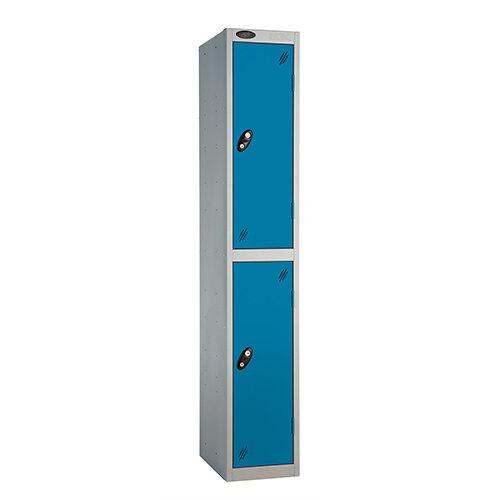 Probe 2 Door Extra Deep Locker ACTIVECOAT W305xD460xH1780mm Silver Body Blue Doors
