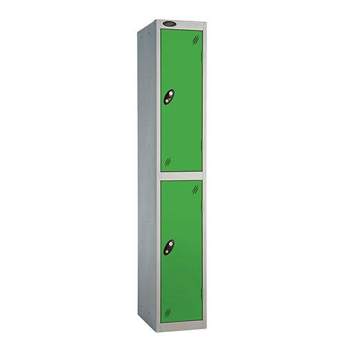 Probe 2 Door Extra Deep Locker ACTIVECOAT W305xD460xH1780mm Silver Body Green Doors