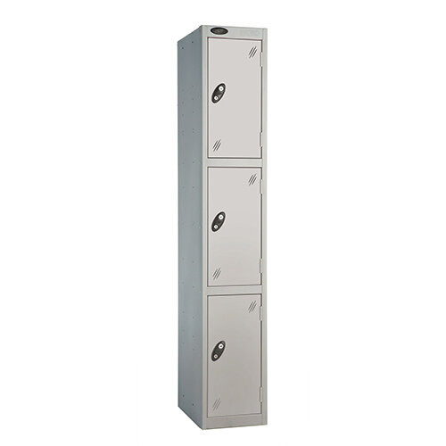 Probe 3 Door Extra Deep Locker ACTIVECOAT W305xD460xH1780mm Silver
