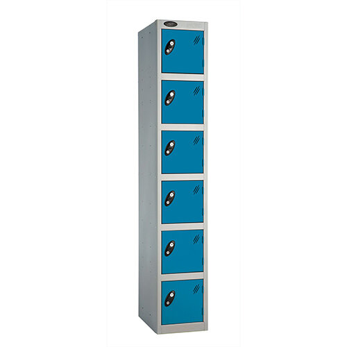 Probe 6 Door Locker ACTIVECOAT W305xD305xH1780mm Silver Body Blue Doors