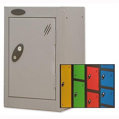 1 Door Small Locker Extra Deep Black Red Trexus