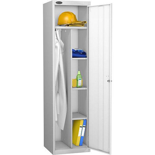 Uniform Locker Silver Body White Doors Probe