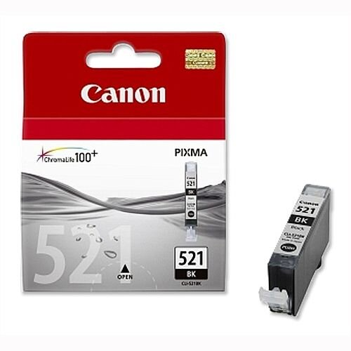 Canon CLI-521BK Black Ink Cartridge 2933B001