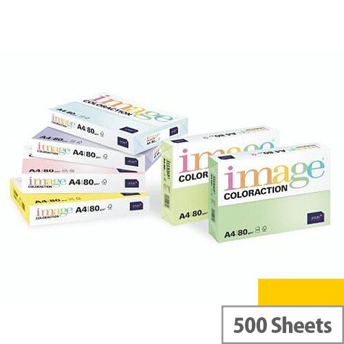 Image Coloraction Sevilla Dark Yellow A4 Paper 80gsm Pack of 500