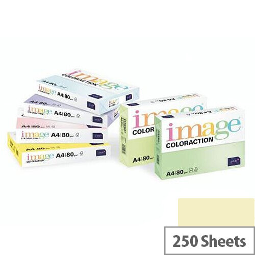 Image Coloraction Pale Ivory Atoll A4 Paper 210x297mm 160gm2 Pack 250
