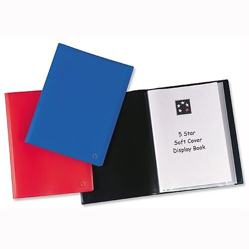 A4 Blue Display Book Soft Cover 40 Pockets 5 Star