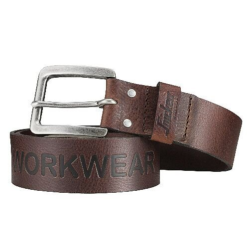 Snickers 9034 Leather Belt 110cm Brown
