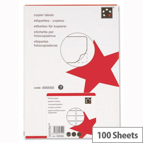 10 Labels per Sheet Copier 105 x 58mm 1000 Labels 5 Star