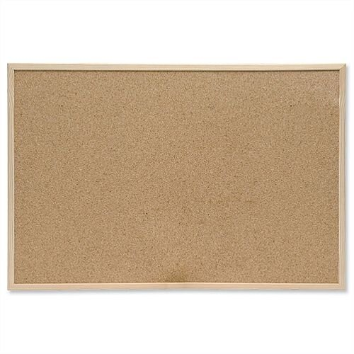 Cork Notice Board with Pine Frame 900 x 600mm 5 Star