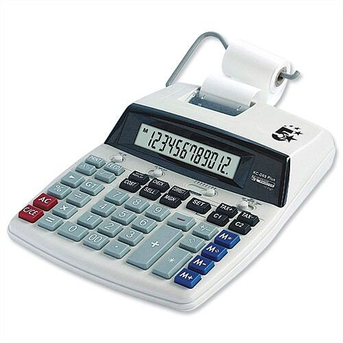 Desktop Printing Calculator 5 Star P12D