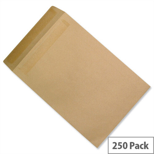 5 Star Office Envelopes Recycled Lightweight Pocket Self Seal 90gsm Manilla 406x305mm Pack 250