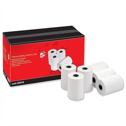 Thermal Printer Rolls 57 x 55 x 12.7mm 55gsm 24m Pack 20 5 Star