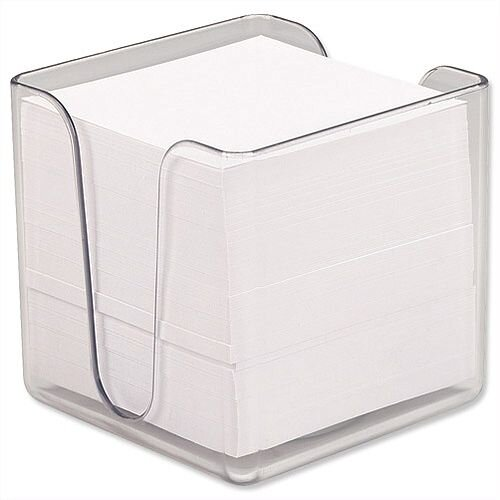5 Star Note Holder Cube Transparent with Approx. 750 Sheets of Paper