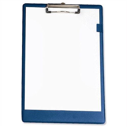Foolscap Blue Clipboard PVC 5 Star