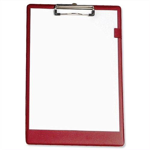 Red Foolscap Clipboard PVC 5 Star
