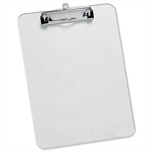 A4 Clear Plastic Clipboard Rounded Corners 5 Star