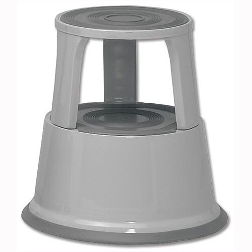 5 Star Step Stool Mobile Spring-loaded Castors Max 150kg Grey