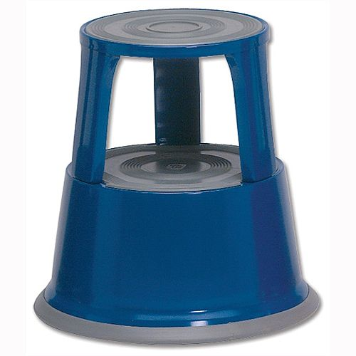 5 Star Step Stool Mobile Spring-loaded Castors Max 150kg Blue