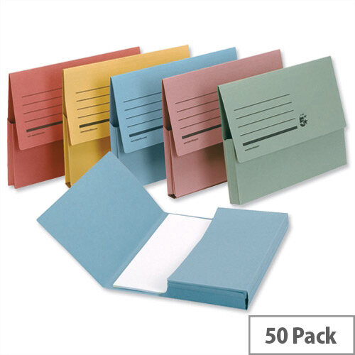 Document Wallet A4 Assorted Pack 50 5 Star