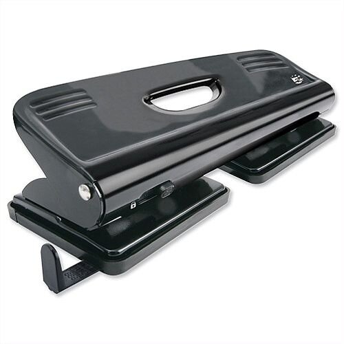 4 Hole Punch Black Metal with Plastic Base 15 Sheets 5 Star