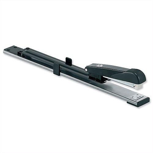 Long Arm Stapler Full Strip 300mm Reach Capacity 20 Sheets Black 5 Star