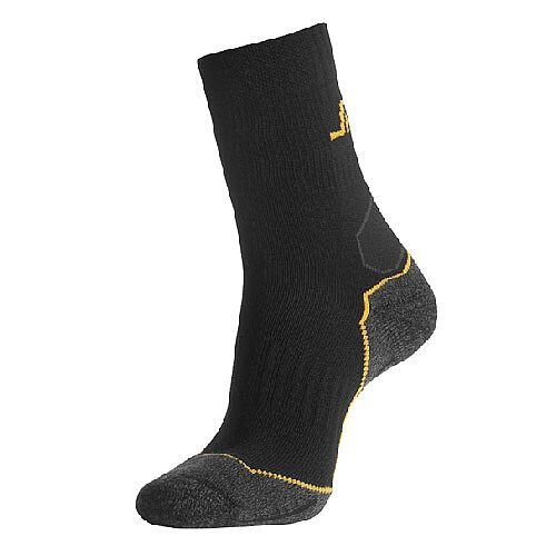 Snickers 9202 Wool Mix Mid Socks Size 40-42 Black/Grey
