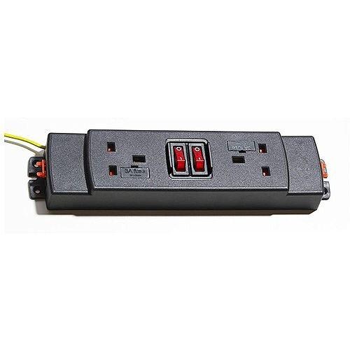 CMD Under 2 Way Modular Power Unit 2 Switches 92K012