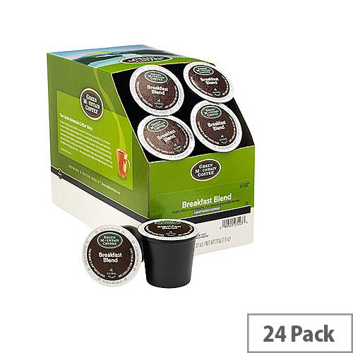 Green Mountain Coffee Breakfast Blend Pack K-Cup pods for Keurig