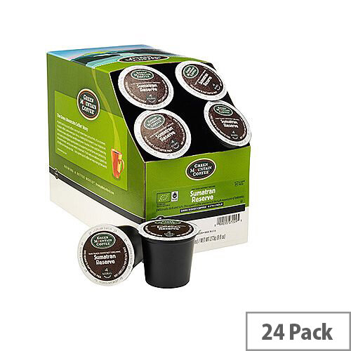 Green Mountain Coffee Fair Trade Certified Organic Sumatran Reserve Pack 24 K-Cup pods for Keurig