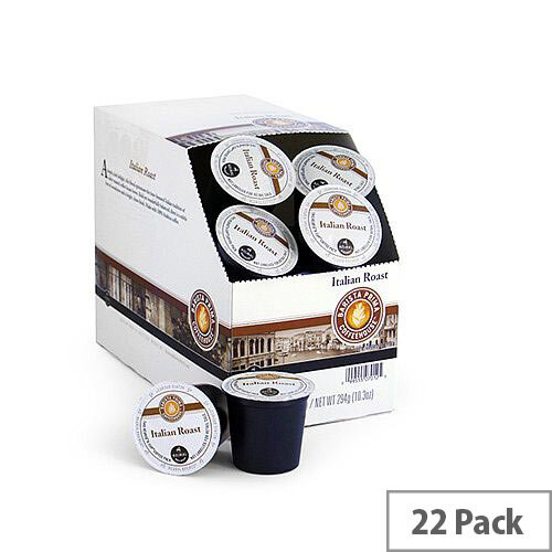 Barista Prima Coffeehouse Italian Roast Pack 22 K-Cup pods for Keurig