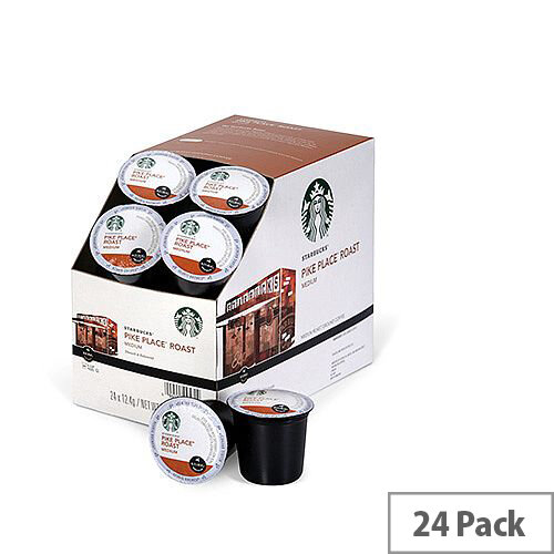 Starbucks Pike Place Roast Pack 24 K-Cup pods for Keurig