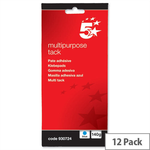 Blue Tack Multipurpose Reusable 140g Pack 12 5 Star