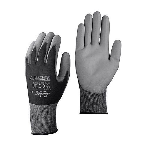 Snickers 9321 Precision Flex Light Gloves Size 12 Black/Grey [Pack of 10]