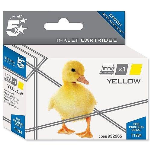 Compatible Epson T1284 Yellow Fox Series Inkjet Cartridge 5 Star