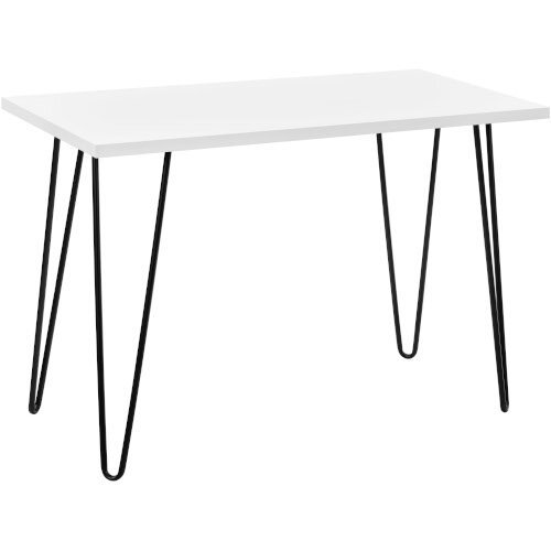 Owen Retro Home Office Desk - White