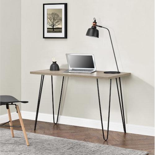 Owen Retro Home Office Desk - Rustic Oak